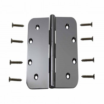 Door Hinges Bright Chrome Radius 5