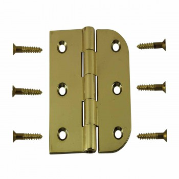 Cabinet Hinges Bright Solid Brass Combo Hinge 2