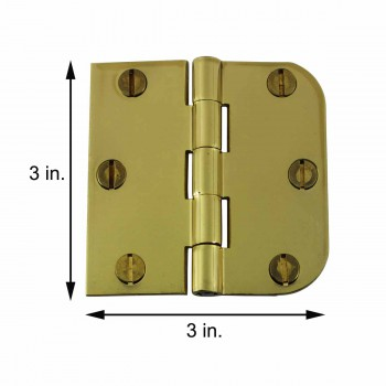 spec-<PRE>Cabinet Hinges Solid Brass Combo Hinge 3&quot; x 3&quot; </PRE>