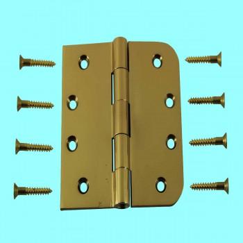 <PRE>Door Hinges Bright Solid Brass Combo 4inch x 4&quot; </PRE>zoom2