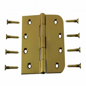 Door Hinges Bright Solid Brass Combo 4