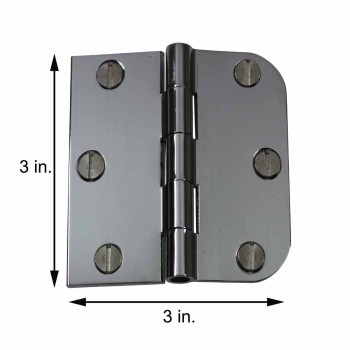 spec-<PRE>Cabinet Hinges Chrome On Brass Combo Hinge 3&quot; x 3&quot; </PRE>