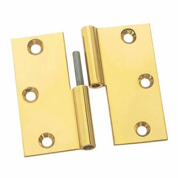 Cabinet Hinges Bright Solid Brass Square LOL 3