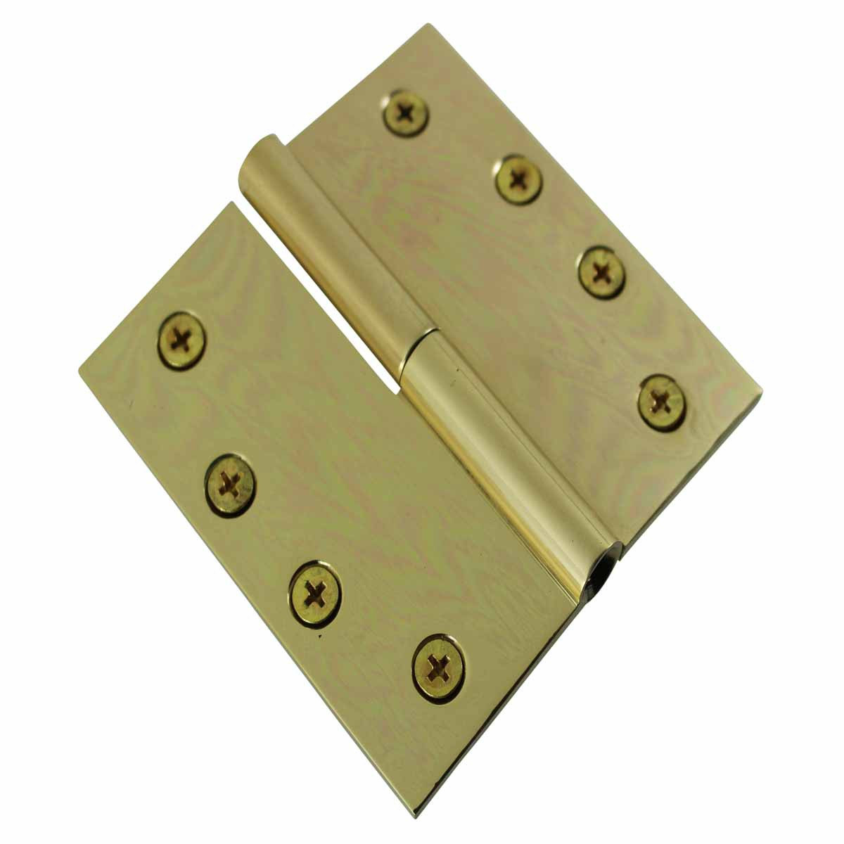 U003cPREu003e4inch Square Door Hinge Lift Off Left Bright Solid Brass U003c/ ...