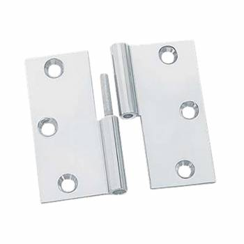 Cabinet Hinge LIft Off Left Chrome Brass 2 inch
