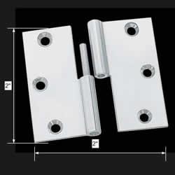 spec-<PRE>Cabinet Hinge LIft Off Left Chrome Brass 2&quot; inch </PRE>