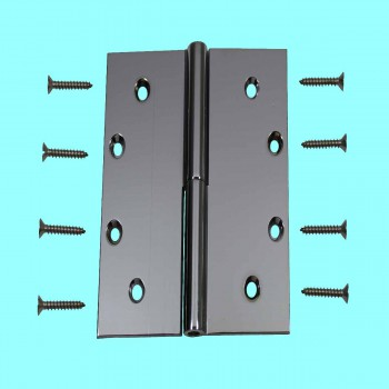 <PRE>5inch Square Door Hinge Lift Off Left Chrome Solid Brass </PRE>zoom2