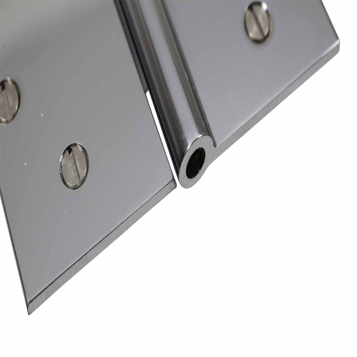 5 Square Door Hinge Lift Off Left Chrome Solid Brass Door Hinges Door Hinge Solid Brass Hinge