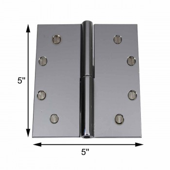 spec-<PRE>5&quot; Square Door Hinge Lift Off Left Chrome Solid Brass </PRE>