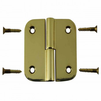 2 Lift Off Left Cabinet Hinge Solid Brass Radius