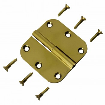 <PRE>Bright Solid Brass Radius, 3 x 3 LOL Hinge </PRE>zoom4
