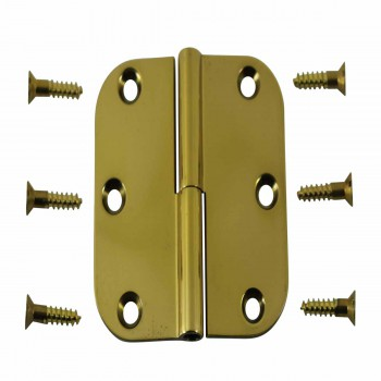 <PRE>Bright Solid Brass Radius, 3 x 3 LOL Hinge </PRE>zoom1