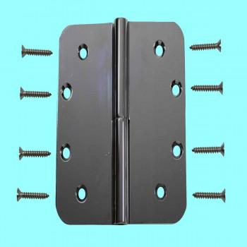 5 Lift Off Left Door Hinge Bright Chrome Radius Door Hinges Door Hinge Solid Brass Hinge