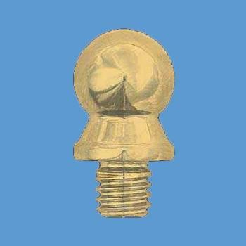<PRE>Door Hinge Bright Solid Brass Medium Ball Hinge Finial Pair </PRE>zoom2