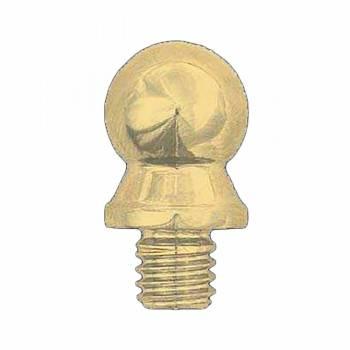 Door Hinge Bright Solid Brass Medium Ball Hinge Finial Pair 92159grid