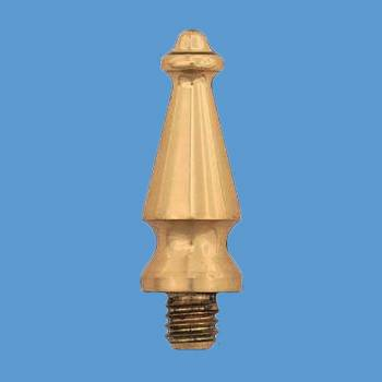 Door Hinges Bright Solid Brass Med Spire Hinge Finial Pair Hinge Finials Brass Hinge Finial Brass Hinge Finials