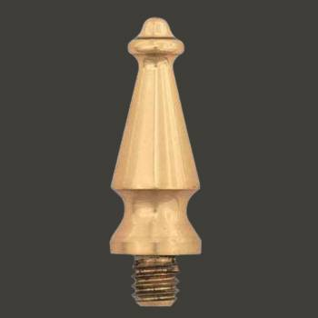 <PRE>Cabinet Hinge Finial Spire Pair Large Solid Brass </PRE>