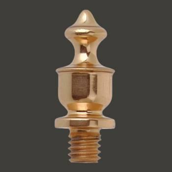 <PRE>Door Hinges Bright Solid Brass Lg Temple Hinge Finial Pair </PRE>zoom2