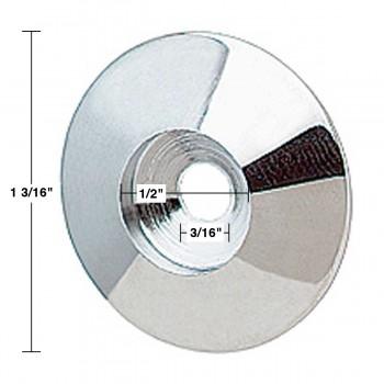 spec-<PRE>Cabinet Knob Rosette Bright Chrome 1 3/16&quot; </PRE>