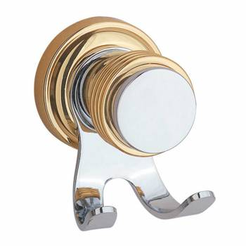 Victorian Bathroom Robe Hook Spectrum Chrome & Brass92349grid