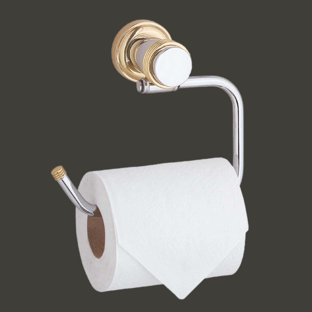 Victorian Toilet Paper Holder Stand Bright Chrome Tissue