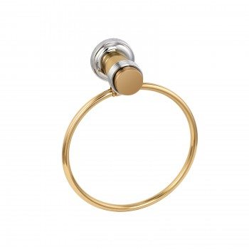 Spectrum Spectrum Towel Ring Brass/Chrome 6.25