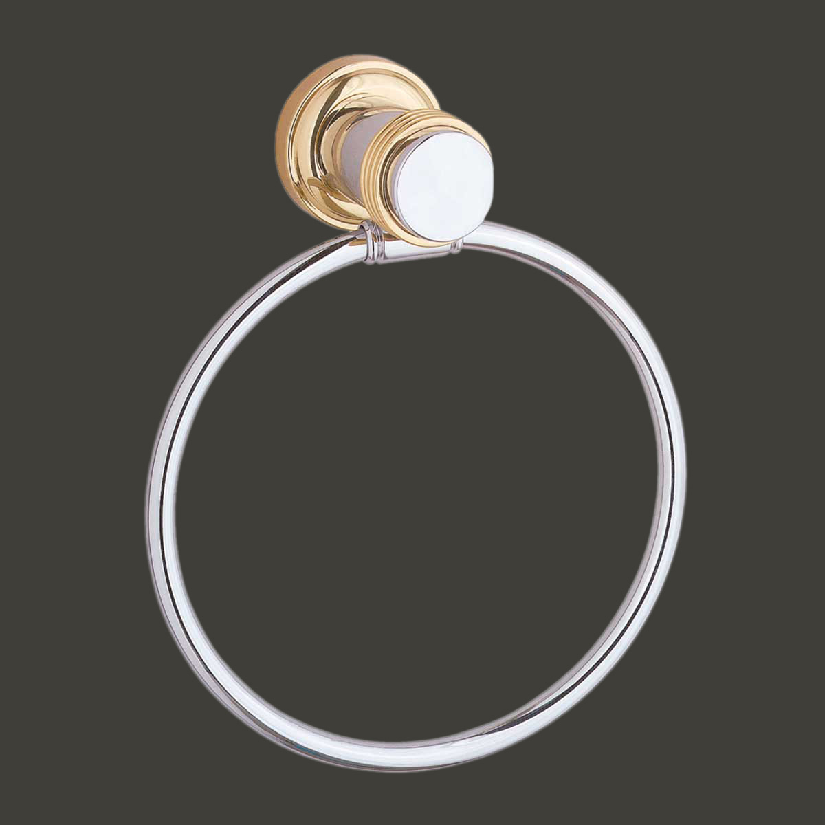 Chrome And Brass Towel Ring For Bathroom Spectrum Collection