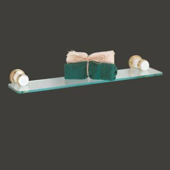 <PRE>Floating Glass Shelf Kit 20 3/4inch W Solid Brass Brackets </PRE>zoom2