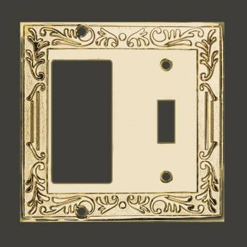 Victorian Switch Plate GFI Toggle PVD Solid Brass Switch Plate Wall Plates Switch Plates