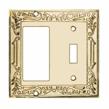 Victorian Switch Plate GFI Toggle PVD Solid Brass 92402grid