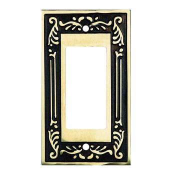 Victorian Switch Plate GFI Antique Solid Brass 92403grid