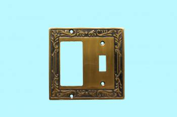 <PRE>Victorian Switch Plate Toggle GFI Antique Solid Brass </PRE>