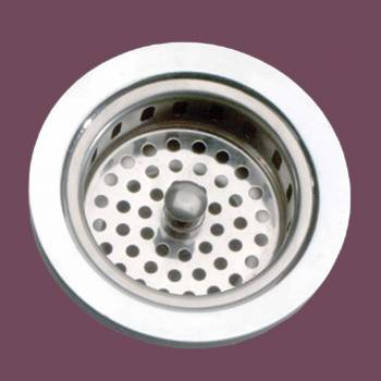Kitchen Sink Strainer  356 Dia. Solid Brass Chrome Finish Drain Accessory Drain Accesories Kitchen Sink Strainer Basket