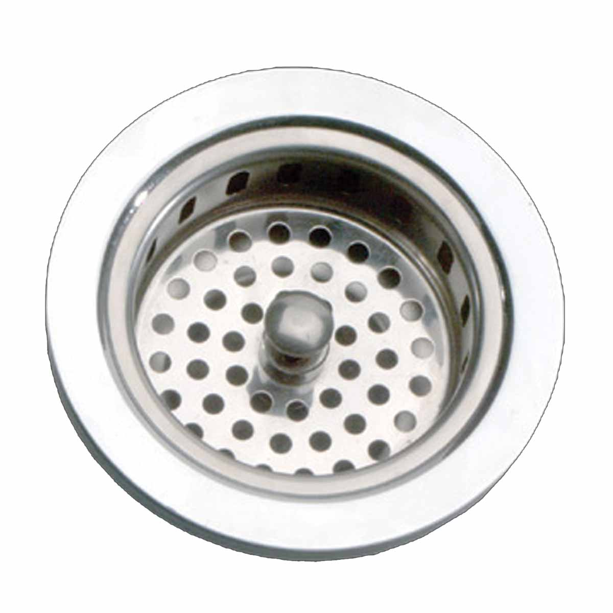 Kitchen sink strainer 3 5 6 dia solid brass chrome finish for 3 kitchen sink strainer