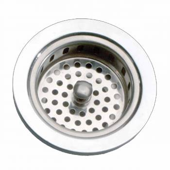 <PRE>Kitchen Sink Strainer - 3-5/6inch Dia. Solid Brass Chrome Finish</PRE>zoom1