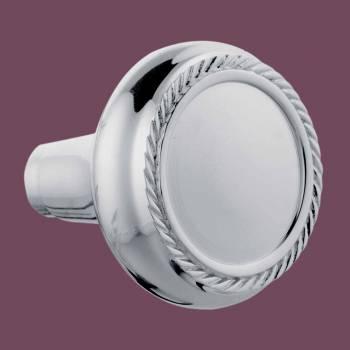<PRE>Pair Chrome Brass Braided Door Knob </PRE>zoom2