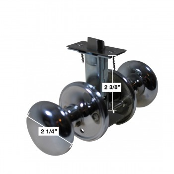spec-<PRE>Door Knobs Privacy Set Bright Chrome 2 3/8&quot; Privacy Set </PRE>