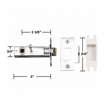 spec-<PRE>Door Latches Stainless Steel 2 3/8&quot; Backset Door Latch Set </PRE>