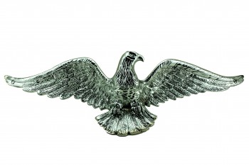 Bald Eagle Chrome 19 in. Wingspan