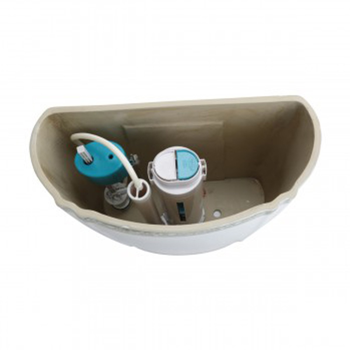 Green and Gold Toilet Tank for Item 12816