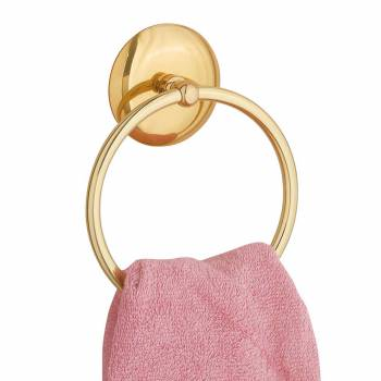 <PRE>Towel Ring Bright Brass 6&quot; D </PRE>