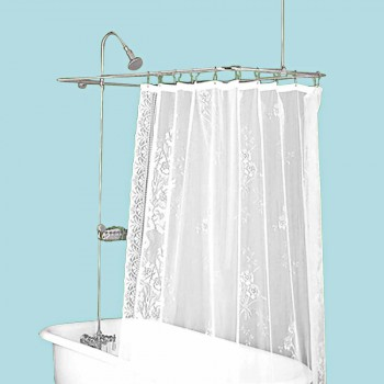 Shower Sets - Rectangular Tub Surround Chrome Over Brass by the Renovator's Supply