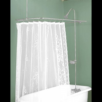 <PRE>Shower Surround Bright Chrome Rectangular &amp; Braces Only </PRE>
