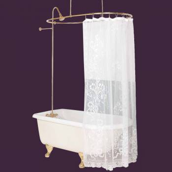Shower Sets - Oval Tub Surround Bright Solid Brass by the Renovator's Supply