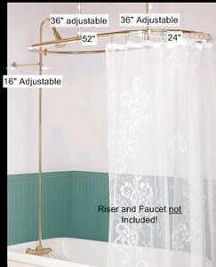 spec-<PRE>Shower Surround Bright Brass Oval and Braces Only </PRE>