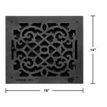 spec-<PRE>8 Floor Heat Register Louver Vent Victorian Cast 12 x 14 Duct </PRE>