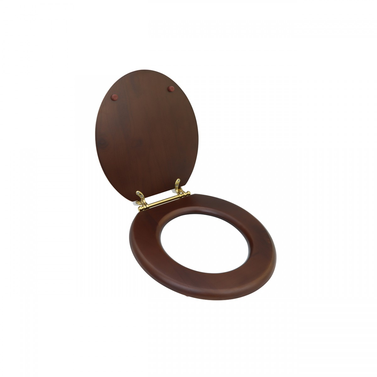 Toilet Seat Round Solid Wood Dark Oak Brass Hinge wooden toilet seats wood toilet seats wood toilet seat