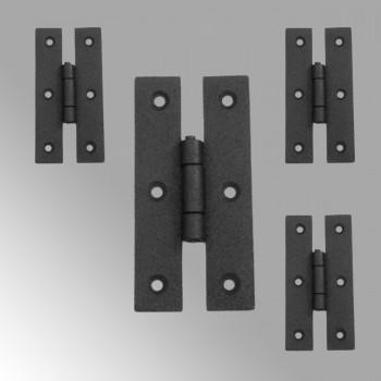 Cabinet Hinge Black Wrought Iron Hinge H Flush 3 H  set of 4