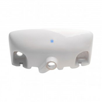 <PRE>Small Wall Mount Sink Porcelain White with Overflow Left Side Faucet Hole</PRE>zoom5