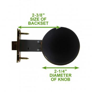 spec-<PRE>Black Interior Door Hardware 2 3/8 in. Door Passage Set</PRE>